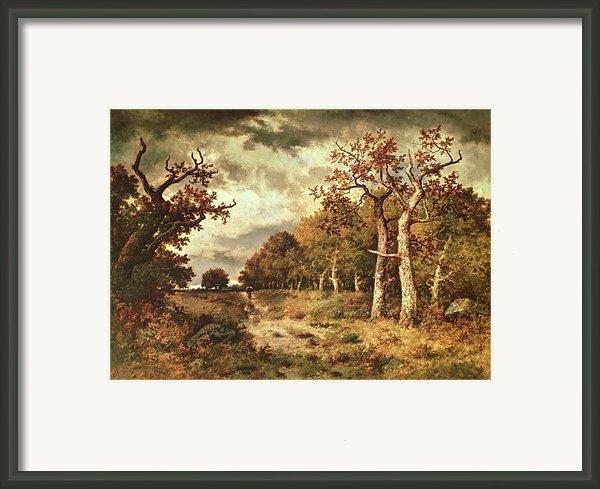 The Edge Of The Forest Framed Print By Narcisse Virgile Diaz De La Pena