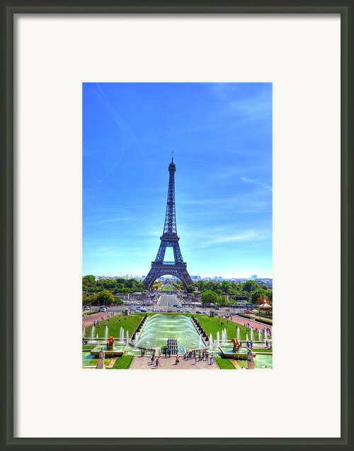 The Eiffel Tower Framed Print By Barry R Jones Jr