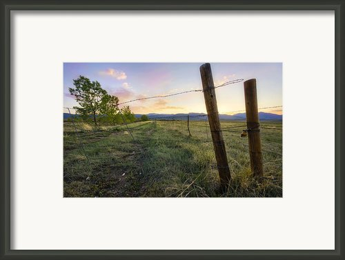The End Of The Line Framed Print By Tyler Porter