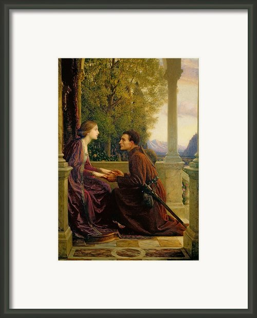 The End Of The Quest Framed Print By Sir Frank Dicksee