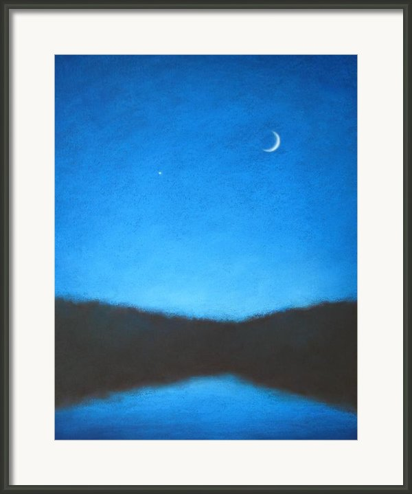 The Evening Star Framed Print By Christopher Jackson