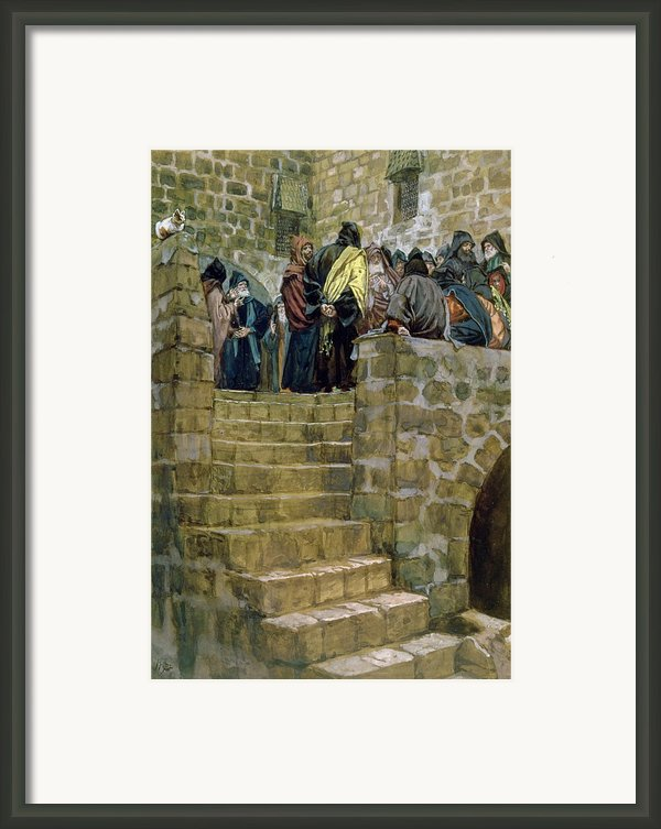 The Evil Counsel Of Caiaphas Framed Print By Tissot