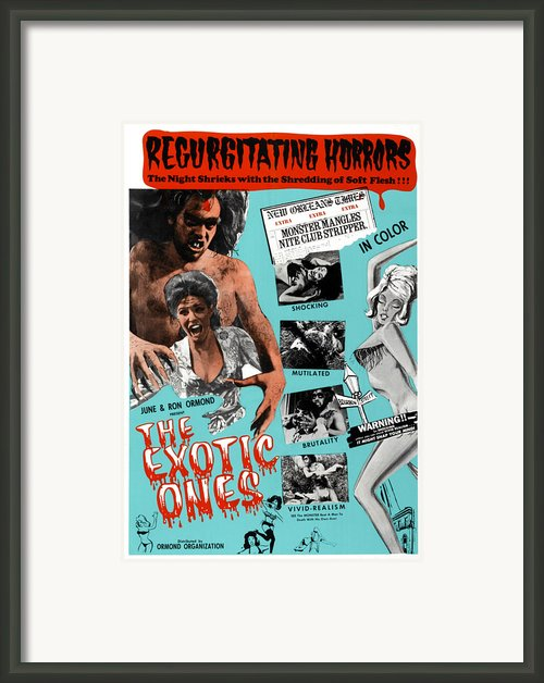 The Exotic Ones, Aka The Monster And Framed Print By Everett