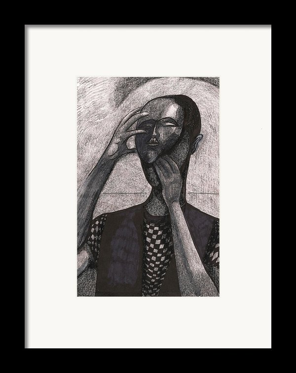The Face Behind The Mask Framed Print By Al Goldfarb