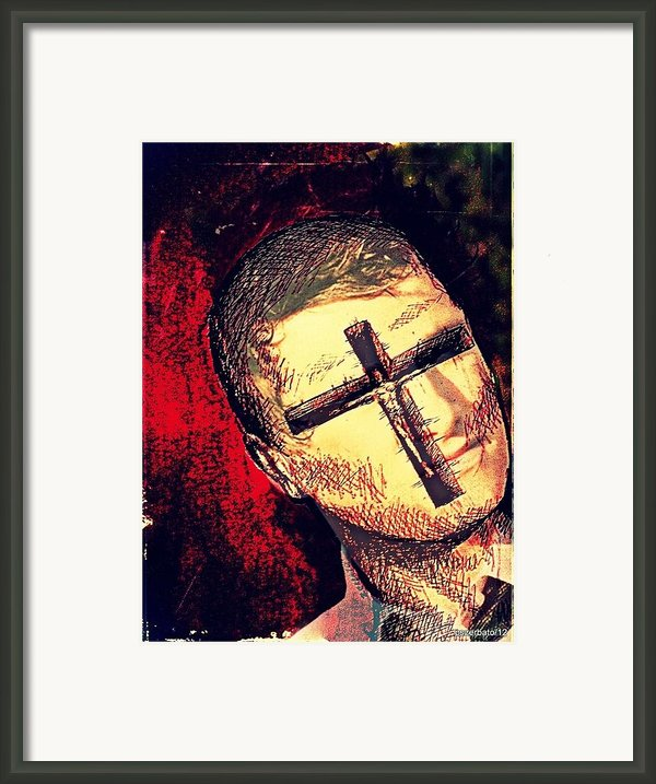 The Face Is Sowing Fertile Shadow Of The Cross Framed Print By Paulo Zerbato