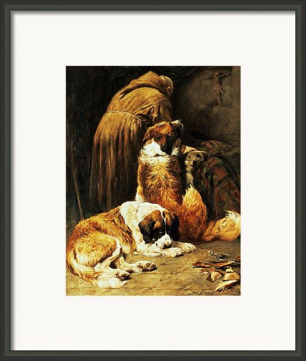 The Faith Of Saint Bernard Framed Print By John Emms