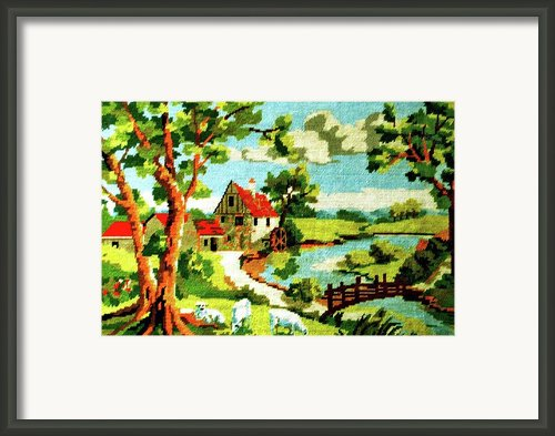 The Farm House Framed Print By Farah Faizal