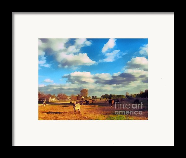 The Farm Framed Print By Odon Czintos