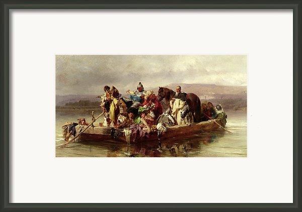The Ferry  Framed Print By Johann Till