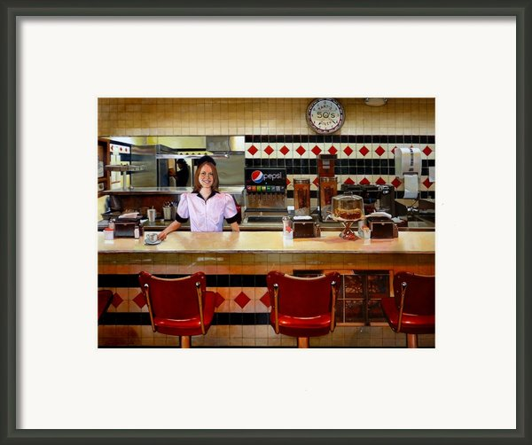 The Fifties Diner Framed Print By Doug Strickland