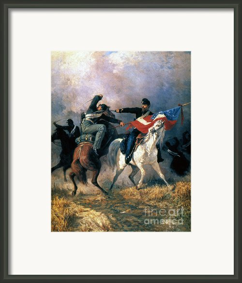 The Fight For The Standard Framed Print By Granger