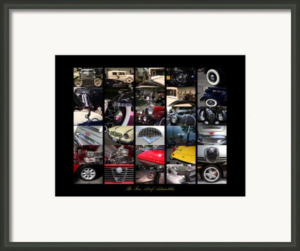 The Fine Art Of Automobiles Framed Print By Wingsdomain Art And Photography