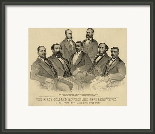The First African American Senator Framed Print By Everett