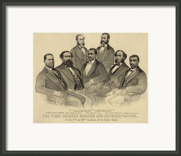 The First African American Senator Framed Print By Everett