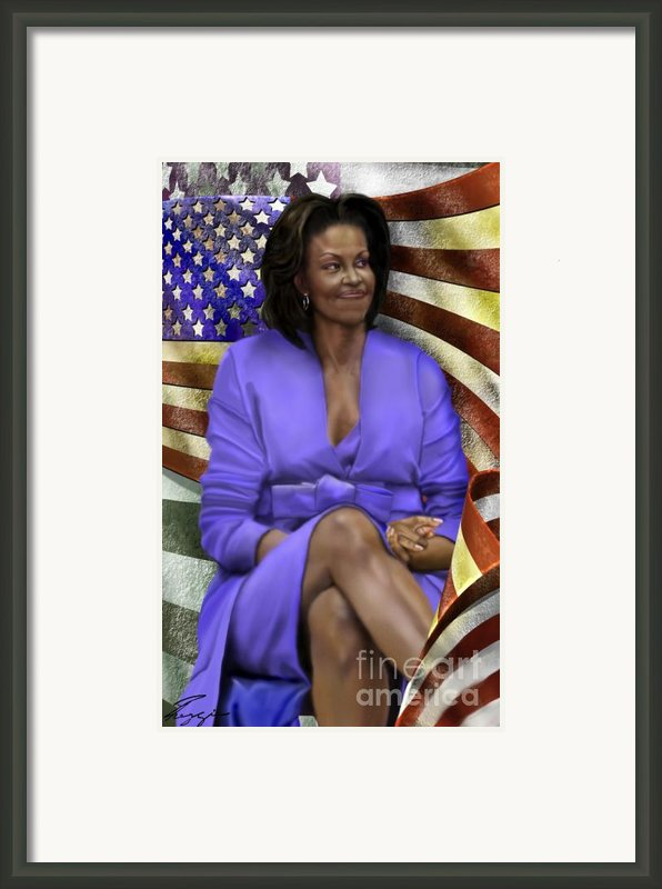 The First Lady-american Pride Framed Print By Reggie Duffie