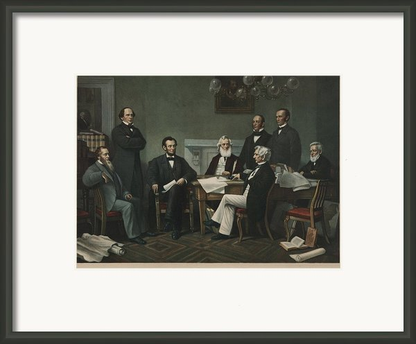 The First Reading Of The Emancipation Framed Print By Everett