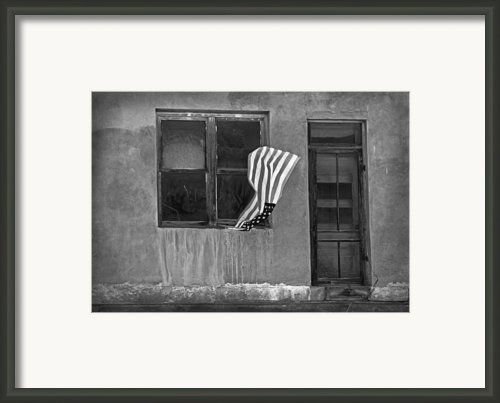 The Flag A Window And A Door Framed Print By James Steele