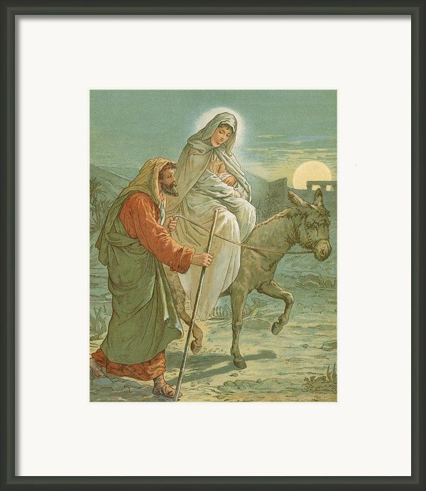 The Flight Into Egypt Framed Print By John Lawson