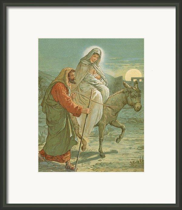 The Flight Into Egypt Framed Print By John Lawson