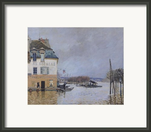 The Flood At Port Marly Framed Print By Alfred Sisley
