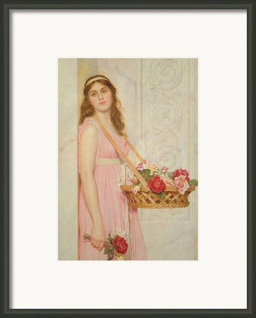 The Flower Seller Framed Print By George Lawrence Bulleid