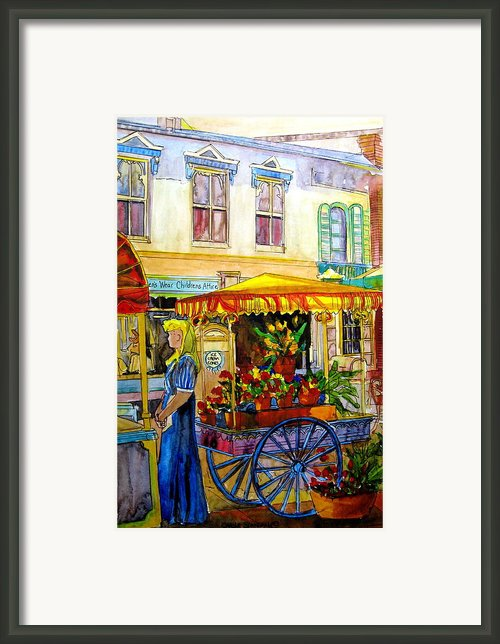 The Flowercart Framed Print By Carole Spandau