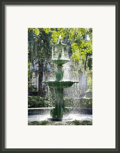 The Fountain Framed Print By Mike Mcglothlen