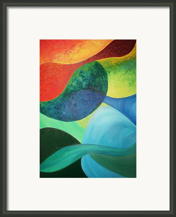 The Four Elements Framed Print By Derya  Aktas