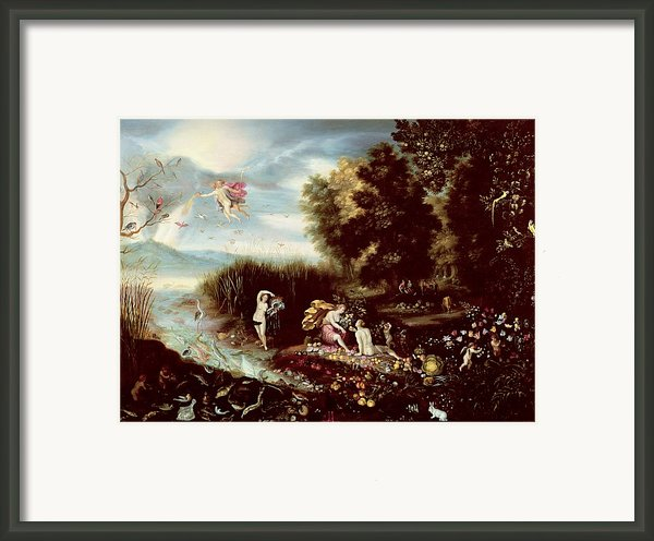 The Four Elements  Framed Print By Flemish School