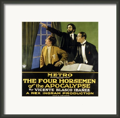 The Four Horsemen Of The Apocalypse Framed Print By Everett