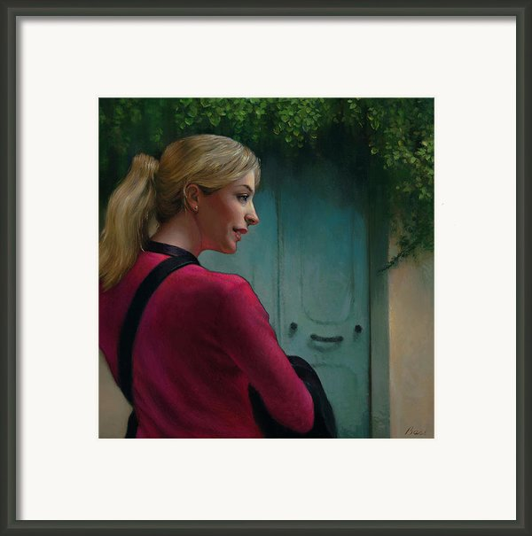 The French Girl Framed Print By Lyndall Bass