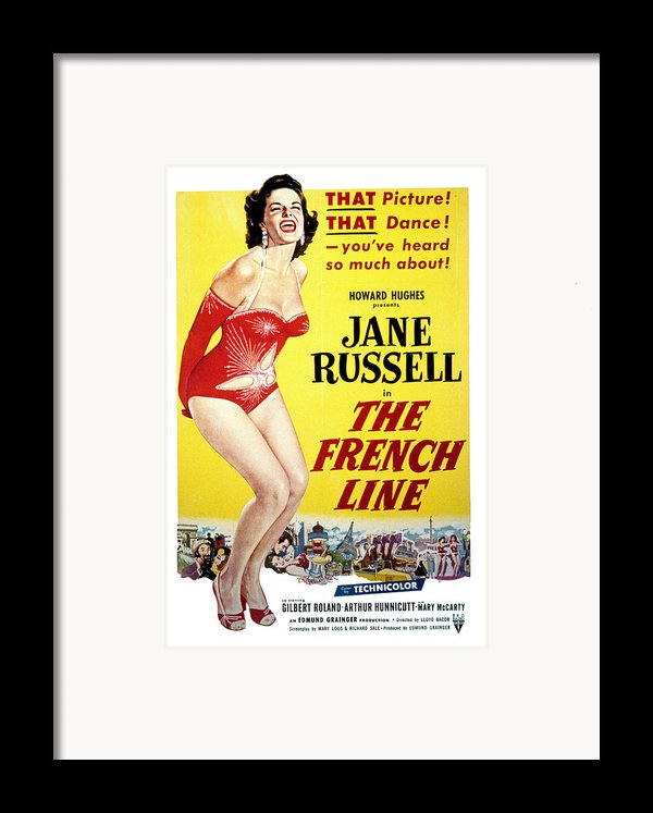 The French Line, Jane Russell, 1954 Framed Print By Everett