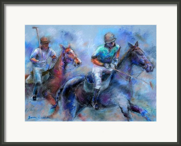 The Game Is On Framed Print By Bonnie Goedecke