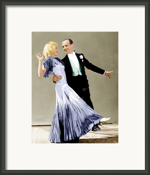 The Gay Divorcee, From Left Ginger Framed Print By Everett
