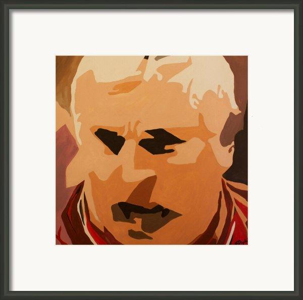 The General- Bobby Knight Framed Print By Steven Dopka