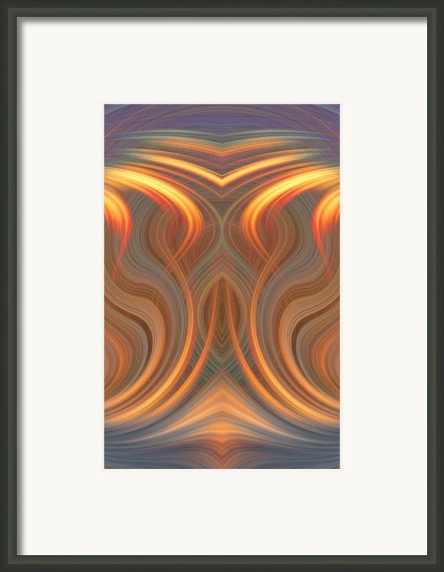 The Ghost Of Fire Framed Print By Linda Phelps