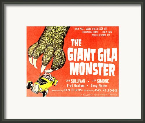 The Giant Gila Monster, Half-sheet Framed Print By Everett