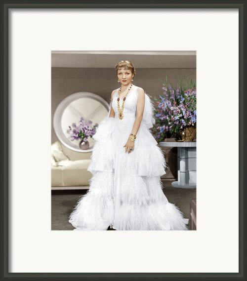 The Gilded Lily, Claudette Colbert, 1935 Framed Print By Everett
