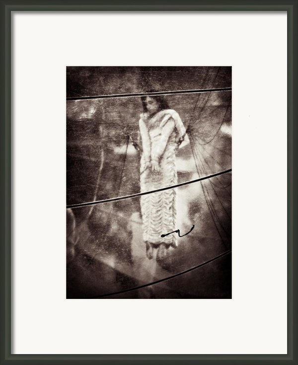 The Girl In The Bubble Framed Print By David Bowman