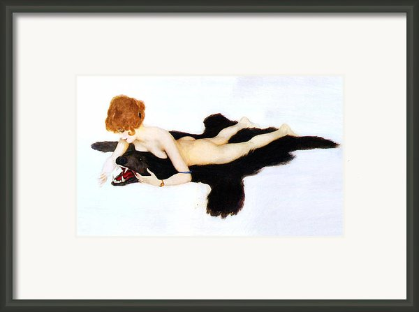 The Girl With The Bear Framed Print By Stefan Kuhn