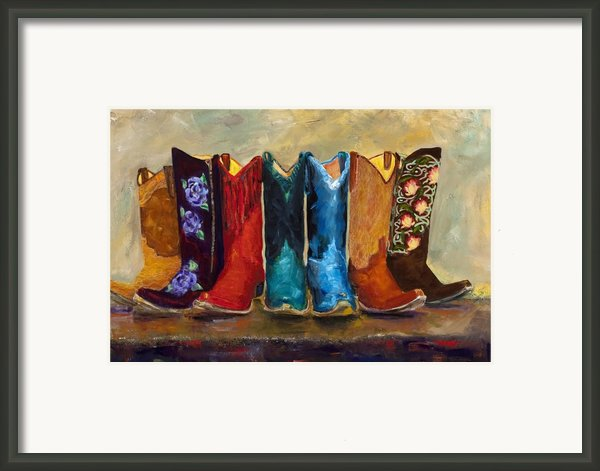 The Girls Are Back In Town Framed Print By Frances Marino