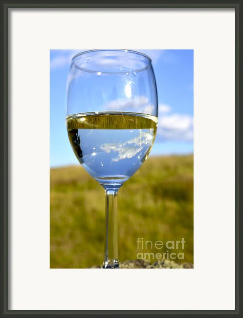 The Glass Is Half Full Framed Print By Thomas R Fletcher