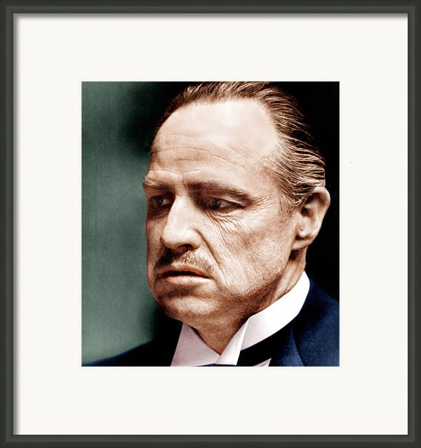 The Godfather, Marlon Brando, 1972 Framed Print By Everett