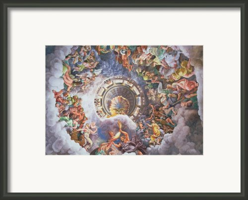 The Gods Of Olympus Framed Print By Giulio Romano