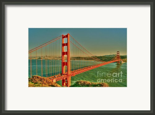 The Golden Gate Bridge Summer Framed Print By Alberta Brown Buller
