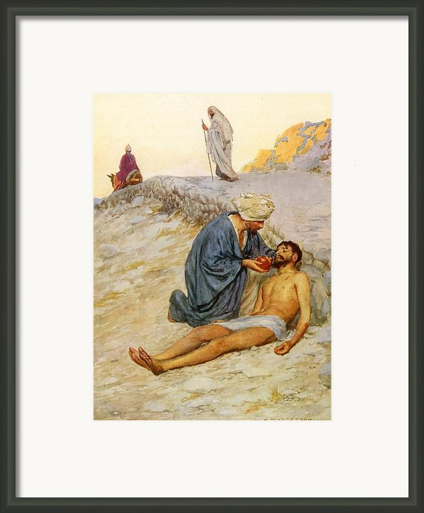 The Good Samaritan Framed Print By William Henry Margetson