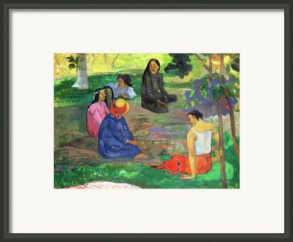 The Gossipers Framed Print By Paul Gauguin