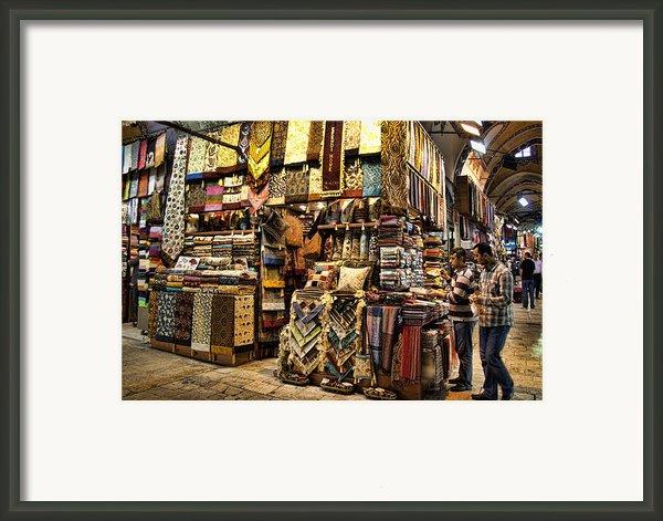 The Grand Bazaar In Istanbul Turkey Framed Print By David Smith