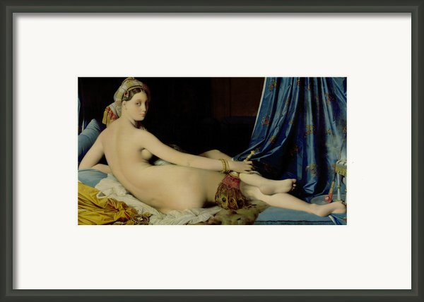 The Grande Odalisque Framed Print By Ingres