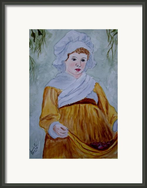The Grape Picker Framed Print By Jean Billsdon
